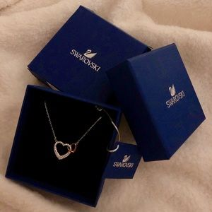 swarovski dear heart necklace
